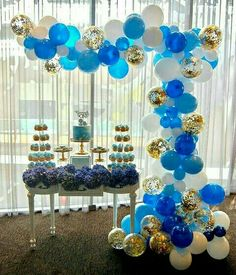 Blue Gold and White Balloons 70 pcs 12 inch Royal Blue Balloons Light Blue Balloons Gold Confetti Balloons White Balloons Blue and Gold Decorations, Royal Baby Shower Decorations - Fiesta casera Its A Boy Balloons, White Balloons, Baby Shower Balloons, Latex Balloons, Gold Party Decorations, Baby Shower Decorations For Boys, Birthday Decorations, Graduation Decorations, Blue Birthday Parties