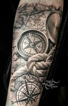 Black clock tattoo with standing gate (The Night C. - inspirational tattoos ideas Black clock tattoo with standing gate (The Night C… – Map Tattoos, Best Sleeve Tattoos, Wolf Tattoos, Tattoo Sleeve Designs, Tattoo Designs Men, Clock Tattoos, Tatoos, Tattoos Skull, Tattoo Fonts
