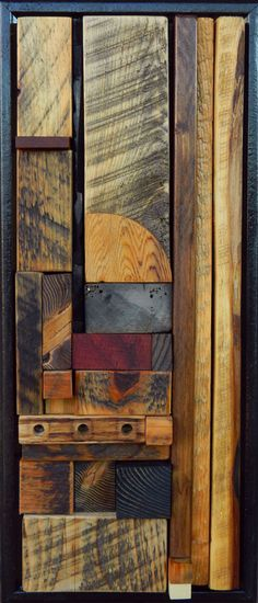 Gallery - heather patterson / mema-studio Reclaimed Wood Art, Recycled Wood, Old Wood, Abstract Sculpture, Wood Sculpture, Wall Sculptures, Wood Mosaic, Mosaic Art, Organic Art