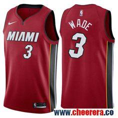 a141a770597 Nike Miami Heat  3 Dwyane Wade Red NBA Swingman Statement Edition Jersey  Basketball Court Flooring