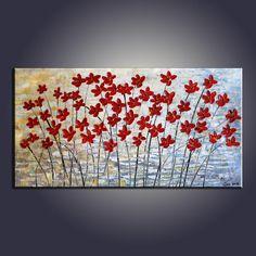Art Painting, Flower Art, Contemporary Art, Modern Art, Abstract Art Painting, Canvas Wall Art, Living Room Wall Art, Canvas Art