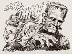 cryptofwrestling:  Great Monster Art by Jack Davis