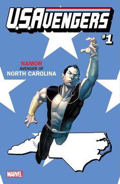 Вариантные обложки комикса «U.S.Avengers» | GeekCity