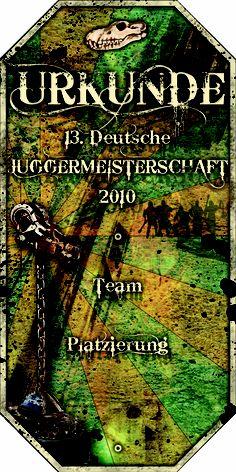 Urkunde 13. Deutsche Meisterschaft 2010