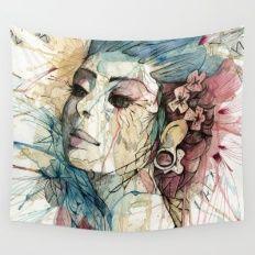 Lady | Natural Fashion Wall Tapestry