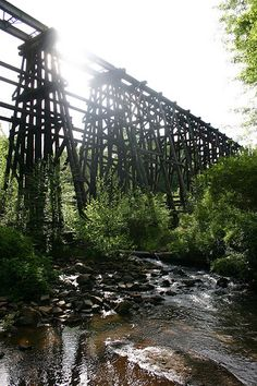 """Murmur Trestle, Athens -- This rail bridge over a creek was on the back cover of the early R.E.M. album """"Murmur."""" It has come to be known as the Murmur Trestle."""