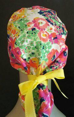 Spring explosion ponytail scrub hat by mandypayne1977 on Etsy Touca De  Cozinha 49402663e89