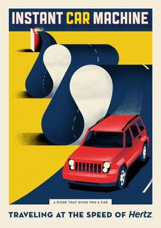 DDB New York's new poster campaign for Hertz