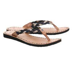 57b95ce37cbb0 UGG Navie Thong Sandal Flip Flops Womens Size 9 black braided leather   fashion  clothing