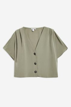 Pleat sleeve top in light khaki. Teen Fashion Outfits, Trendy Outfits, Cool Outfits, Fashion Pants, Diy Clothes, Clothes For Women, Crop Top Outfits, Ladies Dress Design, Clothing Items