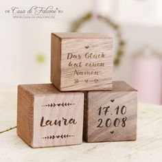 Personalized wooden cubes with engraving I engraved wooden cubes - wood engraving - personalized Personalized wooden cubes for birth or baptism I wood engraving Baby Room Colors, Baby Room Decor, Baby Room Design, Nursery Design, Baby Boy Gifts, Gifts For Boys, Wooden Cubes, Birth Gift, Baby Boy Rooms