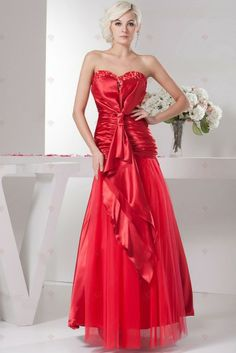 Looks like a valentine bridesmaid!  red dress red dresses