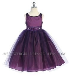 Need to find flower girl dress with color and tulle. I like this one!