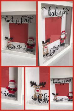 Top 10 Gorgeous Xmas Baby Rompers for your cute baby Shadow Box Picture Frames, Diy Shadow Box, Box Frames, Baby Christmas Gifts, Babies First Christmas, Christmas Baby, Christmas Shadow Boxes, Christmas Frames, Christmas Wreaths