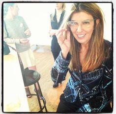 Nina Garcia with google glass