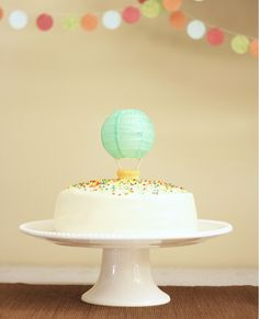 Cutest Hot Air Balloon Cake Topper
