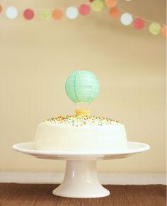 Cutest Hot Air Balloon Cake Topper