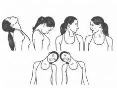 Neck Mobility - The Basic Range of Motion for the Neck Neck And Shoulder Exercises, Posture Exercises, Neck And Shoulder Pain, Neck Stretches, Shoulder Workout, Shoulder Tension, Postural, Spine Health, Neck Pain Relief
