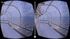 Google streetview met de VR-bril. Deze foto is vanaf de Eiffeltoren in Parijs.