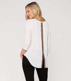 Tops, Fashion, Hot Pink Fashion, White Fashion, Tunics, Blouses, Moda, Fashion Styles, Shell Tops
