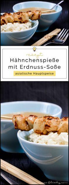 Asiatisches Rezept für Hähnchen-Spieße (Sate) mit Erdnuss-Soße   Filizity.com   Food-Blog aus dem Rheinland #sate #grillen