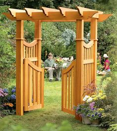 outdoor trellis designs | AW Extra - Garden Arbor - Woodworking Projects - American Woodworker