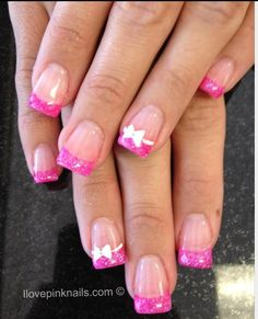 Bow nails, except with real nails