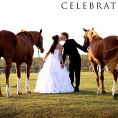 Couple with horses! Cute photo!