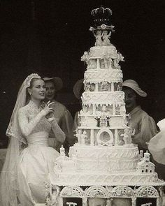 Princess Grace of Monaco after her church wedding on April 19, 1956. She had married Prince Rainier the day before in a civil ceremony at The Palace.