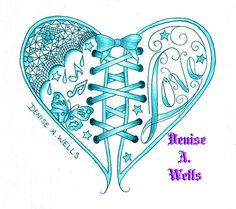 Love Heart Tattoo design by Denise A. Wells