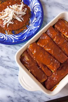 mole enchiladas - This simple flavorful mole recipe gives you the soul of traditional mole without all the hard work.