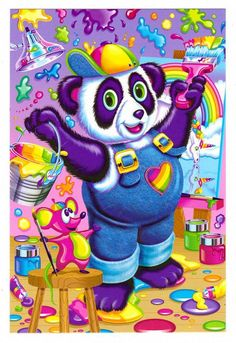 Lisa Frank Panda Painter Postcard by CollectorsWarehouse on Etsy, $4.00
