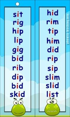 short i wordlist - Free Printable - Ideal fo phonics practice. Phonics Reading, Teaching Phonics, Teaching Reading, English Language Learning, Teaching English, Learn English, Phonics Chart, Phonics Worksheets, I Words List