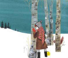 Home / Twitter Winter Illustration, Children's Book Illustration, Book Illustrations, Children's Picture Books, Art For Art Sake, Red Poppies, Traditional Art, Art Boards, Art For Kids