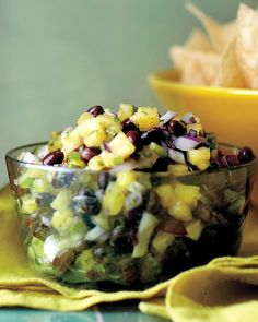 Pineapple and Black Bean Salsa -    This pineapple salsa would make a great appetizer at any party. Serve the salsa with tortilla chips.