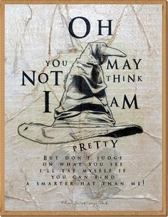 HANDMADE VINTAGE POSTERS Harry Potter Sorting Hat Song by POTAPOTA, £12.99