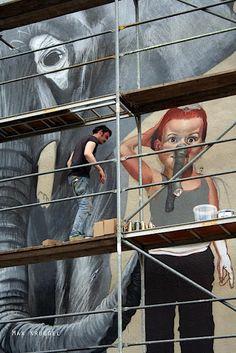 Streetart: Case – New Mural in Schmalkalden, Germany (5 Pictures)