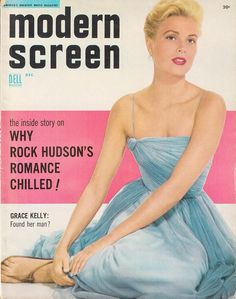 """Grace Kelly on the cover of """"Modern Screen"""" magazine, USA, December 1954."""