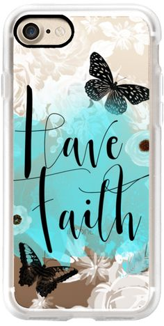 Casetify iPhone 7 Classic Grip Case - Have Faith by Li Zamperini Art #Casetify