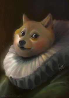 2013 ambiguous_gender anthro brown_eyes canine davidlojaya dog doge fusion inspired_by_proper_art lol_comments looking_at_viewer mammal meme painting shiba_inu solo what Animal Pictures, Funny Pictures, Funny Animals, Cute Animals, Doge Meme, Fantasy Illustration, Shiba Inu, Funny Art, Cat Art