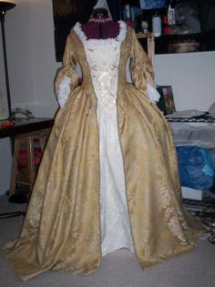 Elizabeth's gold gown from Pirates of the Caribbean