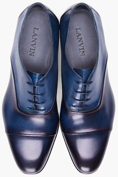 Lanvin Navy Toesade Dress Shoes in Blue for Men (navy)