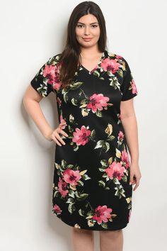 ed4d529ed6d S10-1-3-d59385x black floral plus size dress 2-2-2