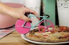 The Fixie Bike Pizza Cutter is a perfect little kitchen accessory mimicking urban bicycles. The wheels of the Fixie Pizza Cutter are designed to cut through Kitchen Gifts, Kitchen Items, Kitchen Stuff, Kitchen Things, Kitchen Supplies, Kitchen Utensils, Kitchen Tools, Cool Kitchen Gadgets, Cool Kitchens