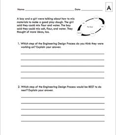 Here 39 S A Nice Graphic Organizer For Students On The Engineering Design Process Stem