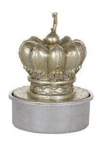 Świeca dekoracyjna Korona Lene Bjerre - złota