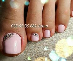 "Pink pedicure Ideas/ Różowy pedicure/ <a href=""https://www.neonail.pl/katalog/zele-hybrydowe-uv/?utm_source=social&utm_medium=pinterest"">BEST NAIL POLISH NEONAIL</a>"