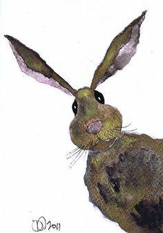 MISSING YOU h1993 Animal Paintings, Animal Drawings, Art Drawings, Watercolor Animals, Watercolor Paintings, Watercolors, Year Of The Rabbit, Rabbit Art, Bunny Art