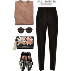 A fashion look from October 2016 featuring Jaeger pants, Lizzie Fortunato clutches and Valentino sunglasses. Browse and shop related looks.