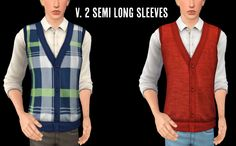 Vest Cardigan for YA-Adult male • 2 versions :D • 4 different color channels (presests) • Fully morphs supported • Base Game compatible I hope you like and enjoy it very much!...